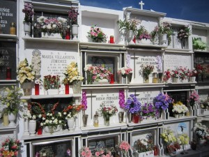 Friedhof für Urnen in Spanien